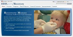 HHS recovery website