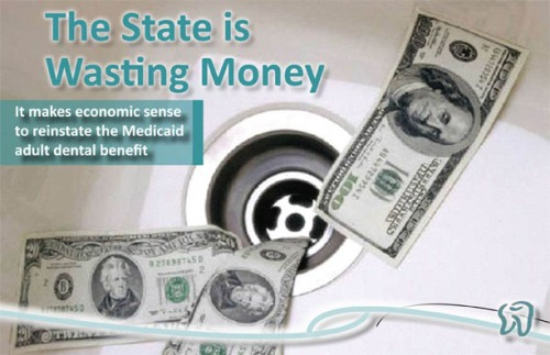 the state is wasting money postcard