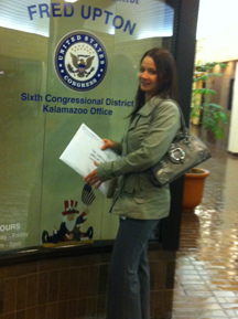 Family Health Center, Inc. staff hand delivered signatures and letters to Congressman Upton's Kalamazoo office on November 10