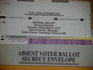 My Absent Voter Ballot