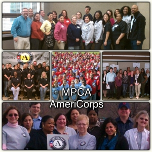 Contributed Photo Collage. MPCA AmeriCorps members.