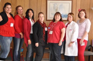 Family Medical Center of Michigan staff were able to wear jeans with the color red in February for a small donation to the American Heart Association. Contributed photos.