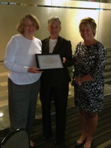 Marilyn Stolberg, DDS, was recognized by MPCA CEO Kim Sibilsky and MPCA Clinical Specialist Diane Rydahl earlier this month.