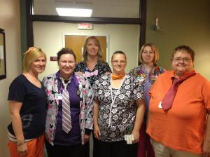 Baldwin Family Health Care Medical Assistants wear ties to highlight National Men's Health Week. Contributed Photo