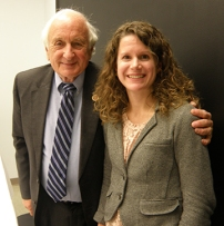 Pictured with Congressman Sander Levin is Julie Tatko, Outreach, Education, and Enrollment Program Coordinator at Michigan Primary Care Association