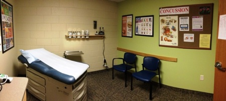 Exam room at the newly renovated White Cloud Child and Adolescent Health Center