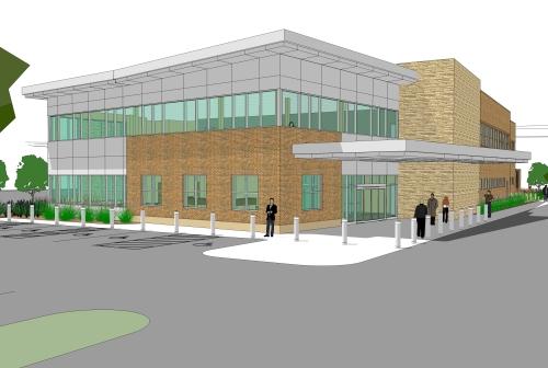 Developer rendition of Family Health Center of Battle Creek's new Women's Health Facility
